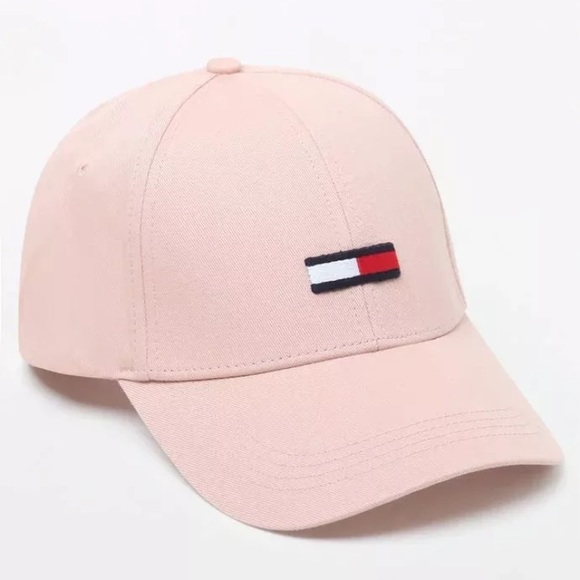49852c1c9c0 Light Pink Tommy Hilfiger Flag Snapback Dad Hat